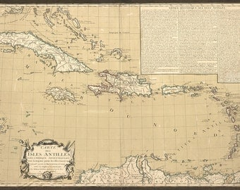 1782 Map of The Caribbean