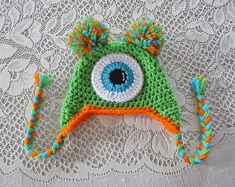 Mr. Monster Crocheted Hat - Photo Prop - Available in Any Size or Color Combination