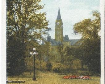 Parliment Buildings - Ottawa, Canada - Vintage Postcard