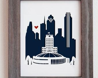 Houston, TX. Personalized Gift or Wedding Gift