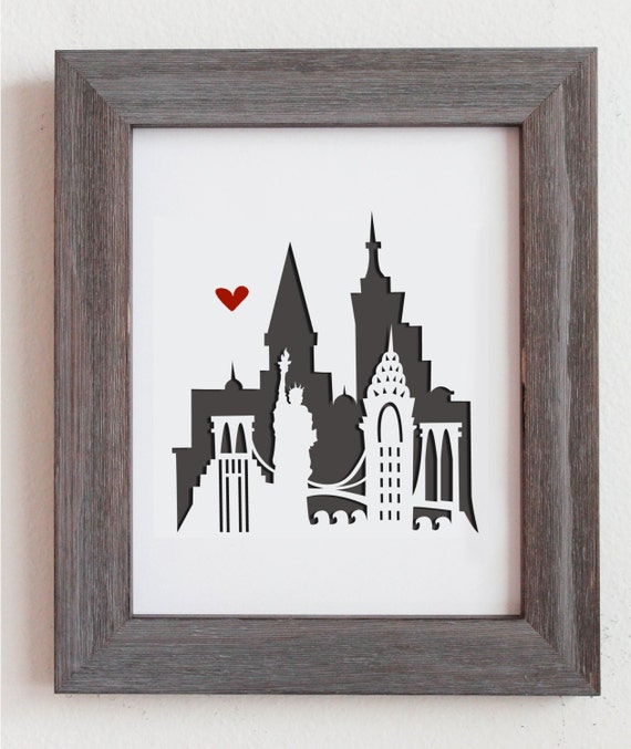 New York, New York. Personalized Gift or Wedding Gift