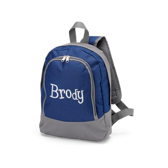 personalized preschool backpacks kids personalized backpacks in brody navy print by poshykids 352