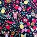 SALE - NEW Kawaii Bears and Fruit Fabric in black  (1 yard) ( Sale, Sale, Sale)