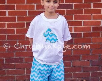 Easter Boys or girls chevron bunny pajamas