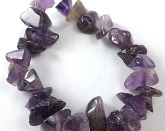 "6""-Chunky chips-natural purple Amethyst gemstone loose beads,bracelet beads"