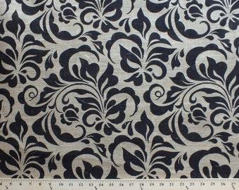 06049 Springs Creative Burlap Damask Leaf print - 1 yard