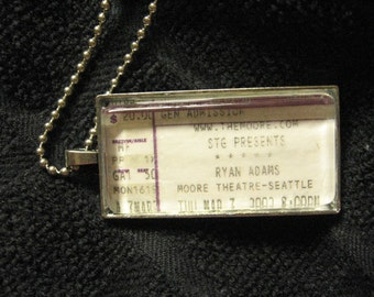CUSTOM  - Concert ticket stub necklace