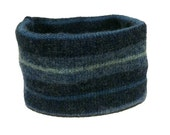 Large Blue Wool Striped D...
