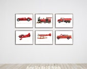 Collection of Six 8x10 vintage Transportation prints of your choice