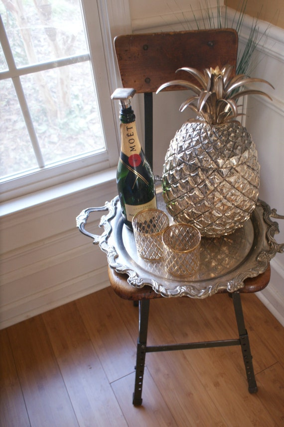 15 pouces sculpteur mauro manetti ananas glace seau. Black Bedroom Furniture Sets. Home Design Ideas
