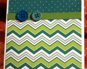 Green Chevron Card for Any Occasion  20140087