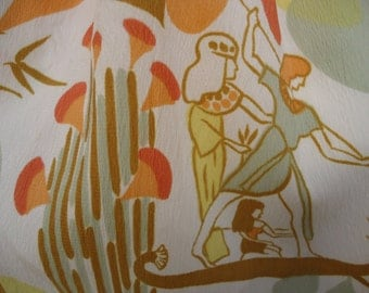"1960's Shirtmaker dress by Westbury in ""egyptian"" print fabric"