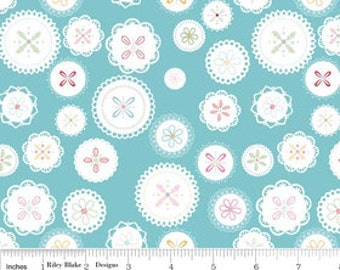 Polka Dot Stitches - Doily Blue by Lori Holt from Riley Blake