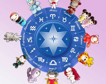AMIGURUMI PATTERN : The Cutiest Signs of Zodiac Collection