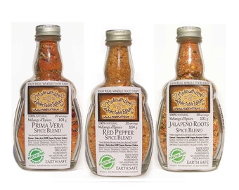 Triplet of Eco Artisan Spice Blends - Pasta Sauce Mix - Dip Mix - Gluten Free Dairy Free Vegan - Food Market  - Herbs & Spices Food Gift Set