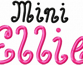 Mini Ellie Machine Embroidery Font - Sizes .5in. (half inch) BUY 2 get 1 FREE - Mini Fonts