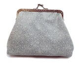 Bridal Clutch Purse - Bridesmaid Clutch Purse - Wedding Clutch Purse - Evening Clutch Purse - Silver Frame