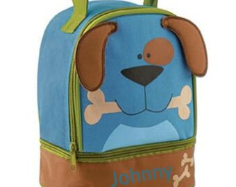 Personalized Boys Lunch Box Bag Stephen Joseph Lunch Pals in Dog