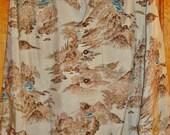 Cherry Blossom Waikiki - Rare Mint Mens Vintage 40s Silk Asian Themed Hawaiian Aloha Shirt - L - The Hana Shirt Co