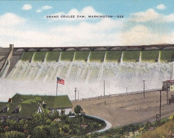 Grand Coulee Dam, Washington - Vintage Postcard - Postcard - Unused (Z)