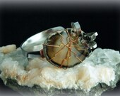 Upcycled Fork Bracelet with Wire Wrapped Agate