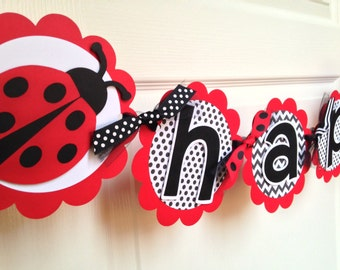 Ladybug Birthday Party Banner