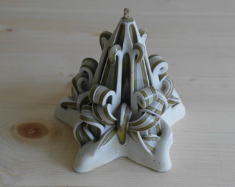 Vintage Twisted Star Wax Candle