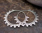 Sunray Silver Earrings