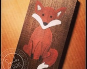 Small Hand painted Fox on Reclaimed Wood