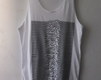 Unknown Pleasures Computer Wave Post Punk 80's New Wave Rock Tank Top M