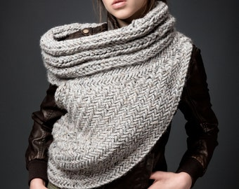 Huntress Cowl Scarf Post Apocalyptic Cowl Knitting Pattern by kysaa- PDF Handknit Pattern - featured on Etsy finds!!