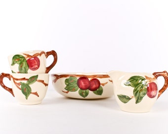 Franciscan Pottery set with Apple Design