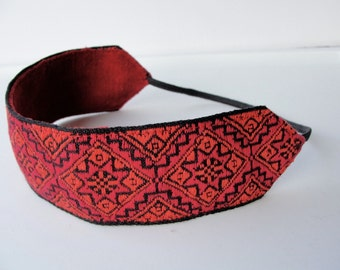 Red headband  jacquard hair band vintage trim women hair accessory