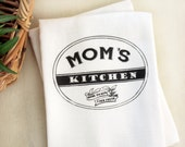 Persoanlized Mom's Kitchen Tea Towel,  Text Kitchen Flour Sack Towel, Mom Cotton Kitchen Towel, Gift For Her, Home Decor