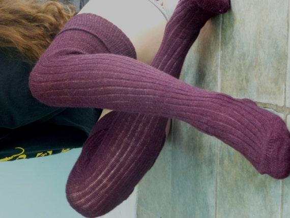 Thigh High Knitted Wool Socks Better Than Leg Warmers