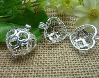 2pcs 117x25x30mm Silver color Wishing ball  Charm Pendant C7559