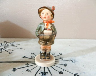 Goebel Hummel Figurine Brother Full Bee TMK 2 Mark Vintage Hummel Collectible Hummel 1950s Hummel  Hummel Boy 95