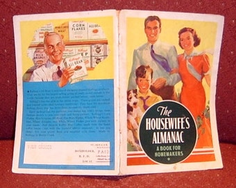 Book 1938 The Housewife's Almanac: A Book For Homemakers and Recipes
