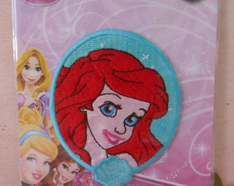 Iron-on Ariel the Little Mermaid Applique Embroidered Patch Disney Princess