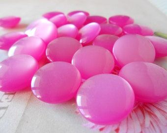 Buttons Glossy Fuchsia 12pcs