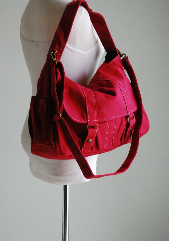 Pico2 in Cherry Red (Water Resistant) Purse / Laptop / Shoulder bag / Messenger Bag / Handbag / Wallet / Diaper Bag / Hobo Bag / Tote