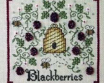 """Sweetheart Tree """"A Buzz for Blackberries"""" Counted Cross Stitch Kit"""