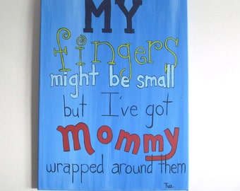 Baby Wall Art - Nursery Canvas Art - Baby Boys Decor - New Mommy Gift - Baby Boy Nursery - Gift for New Mommy