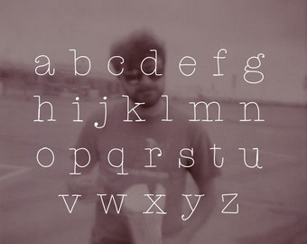 a font for love letters (spaghetti typewriter)