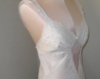 Vintage Negligee Nightgown White Chemise Wedding Bridal Lily of France
