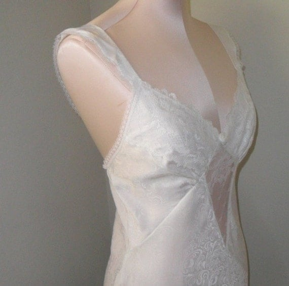 Vintage Negligee Nightgown White Chemise by ...