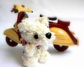 Crochet amigurumi dog - Creammi MochiQtie - Mini size Amigurumi stuffed animal toy doll
