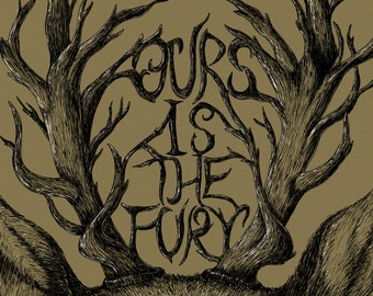 Ours is the Fury- Game of Thrones-inspired House Baratheon A4 art print- stag- FREE WORLDWIDE SHIPPING