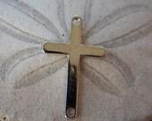 Silver Cross Connectors, Sideways Cross, 22mm, 16pcs