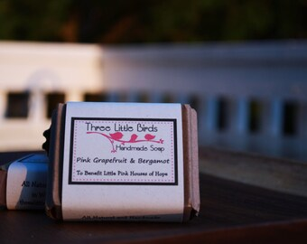 Pink Grapefruit & Bergamot Cold Processed Soap - To Benefit Little Pink Houses of Hope